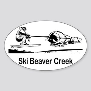 Ski Beaver Creek CO Oval Sticker
